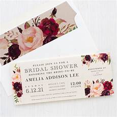 wording your bridal shower invitations burgundy floral bridal shower invitations beacon