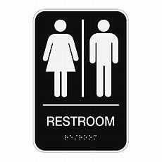 Bathroom Signs For The Office by Cosco Ada Menswomensunisex Restroom Sign 6 X 9 Black
