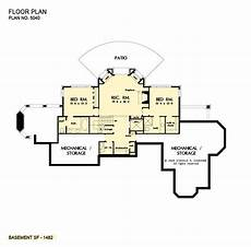 best walkout basement house plans craftsman houseplan rear view plan walkout basement plan