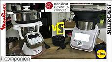 comparaison monsieur cuisine connect et i companion