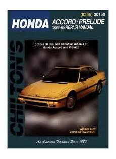 old cars and repair manuals free 1984 honda cr x security system 1984 1995 honda accord and prelude chilton s total car care manual