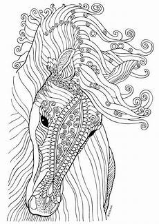 horse coloring page illustration by keiti redwork