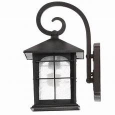home decorators collection brimfield 1 light aged iron outdoor wall lanter radius electric