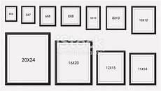 Picture And Photo Frames Size Stock Vector More