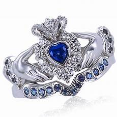 heart shape sapphire and natural diamond bridal