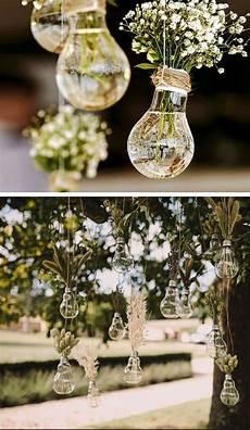 hanging light bulb vases easy wedding decorations dollar stores inexpensive wedding decor