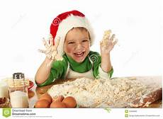 little boy cooking the christmas cake stock image image