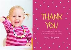 thank you card template baby birthday 10 birthday thank you cards design templates free