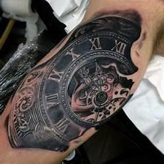 uhr unterarm ellbogen uhr steunk tattoos t 228 towierungen