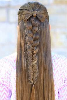 half up bow combo cute girls hairstyles