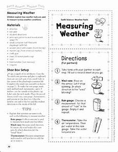 measuring weather weather tools earth science shoe box learning center printable learning