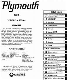 plymouth service repair manual download pdf 1970 plymouth repair shop manual original