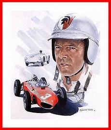 wolfgang graf berghe trips portrait motorsport poster