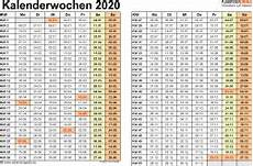 Malvorlagen Querformat Pdf Vorlage 3 Kalenderwochen 2020 Im Querformat Als Excel