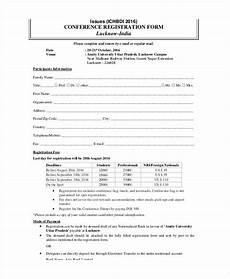 printable registration form templates 9 free pdf documents download free premium templates
