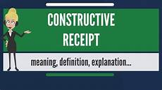 what is constructive receipt what does constructive