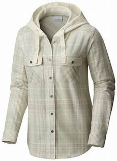 columbia s point ii flannel button up hoodie shirt jacket