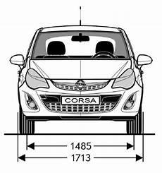 Opel Corsa D Abmessungen Technische Daten L 228 Nge