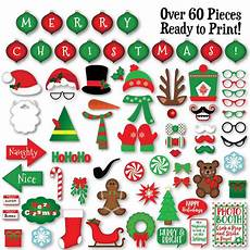 christmas photo booth props banner and decorations christmas printable props includes over