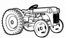 farm tractor coloring page print