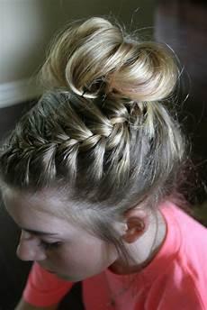 dance hair braided bun tutorial sand sun buns