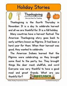 thanksgiving reading comprehension worksheet have fun teaching
