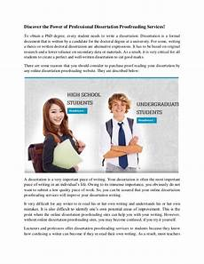 discover the power of professional dissertation proofreading services
