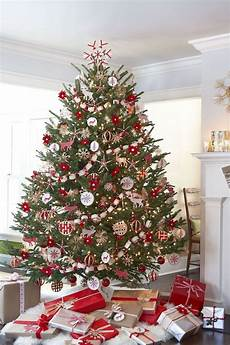 Weihnachtsbaum Rot Weiß Geschmückt - 1001 ideen wie sie ihren weihnachtsbaum schm 252 cken wie
