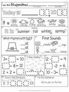 morning work first grade november packet fall differentiated common core weather seasons