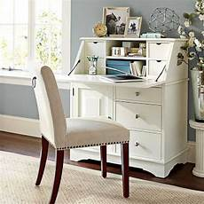 home office furniture for small spaces graham secretary antique white by pottery barn desks