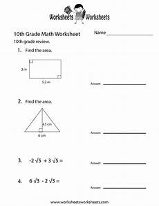tenth grade math practice worksheet free printable educational worksheet