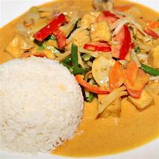 Curry Mit Reis - rotes thai curry mit huhn 3 1 5