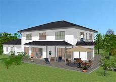stadtvilla mit doppelgarage massivhaus in medtierranen stil mit 239 m 178 wohnfl 228 che