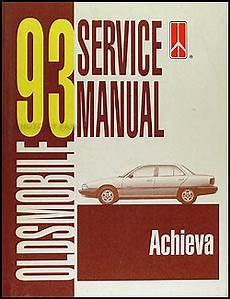 car repair manual download 1993 oldsmobile achieva transmission control 1993 oldsmobile achieva repair shop manual original