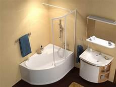 Badewanne Mit Duschbereich - raumspar wanne 140 x 105 cm mit duschzone duschabtrennung