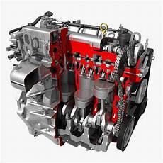 Car 4 Cylinder by Car 4 Cylinder Engine Cutaway 3d Cgtrader