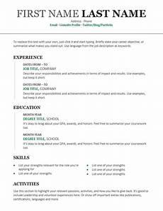 chronological resume modern design