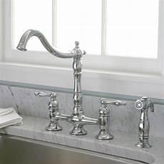 kitchen bridge faucets charelstown bridge style 2 handle chrome kitchen faucet contemporary kitchen faucets by