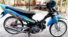 Jupiter Z Trail by Foto Modifikasi Motor Jupiter Z Warna Biru Terkeren Dan