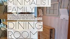 minimalist family small space dining room solutions youtube
