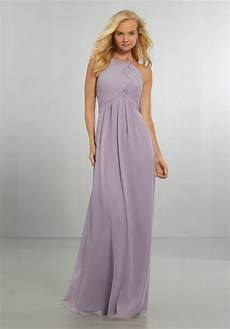 chiffon bridesmaids dress with draped bodice and keyhole back style 21570 morilee