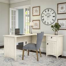 antique white home office furniture bush furniture salinas l shaped desk with storage