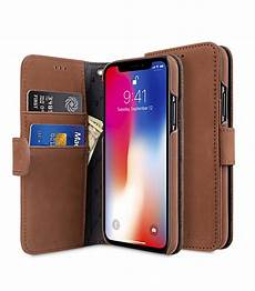 premium leather for apple iphone x wallet book type