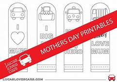 Printable Mothers Day Bookmarks – Lucas Loves Cars