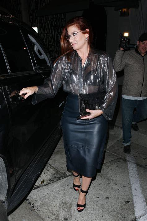 Debra Messing Leather