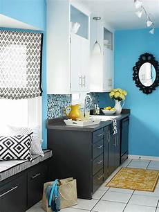 Kitchen Colors Black And White by Blue Kitchen Design Ideas Better Homes Gardens