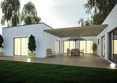 Extension De Maison Design Avec Pergola Et Terrasse