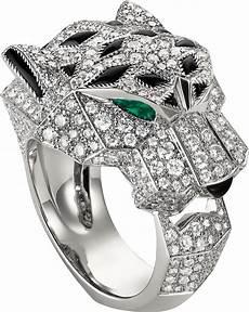 bague jaguar cartier crn4211000 bague panth 232 re de cartier or gris diamants