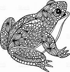 decorative ornate doodle frog illustration with abstract