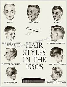 50s hairstyle names hair styles in the 1950s poster crew cut by